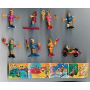 Set 8 Mini Figures PIC-NIC Serie SPORT Gashapon Original PicNic Pic Nic KINDER Style