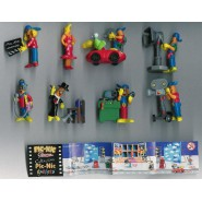 Set 8 Mini Figures PIC-NIC Serie CINEMA Gashapon Original PicNic Pic Nic KINDER Style