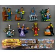 Set 8 Mini Figures PIC-NIC Serie MEDIEVAL MEDIOEVO Gashapon Original PicNic Pic Nic KINDER Style