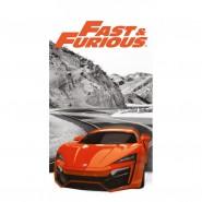 FAST AND FURIOUS Orange Car Beach Towel 70x140cm BATH Original New