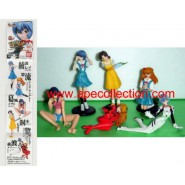 Set 6 Figures EVA GIRLS Evangelion Gals PART 1 Original Gashapon BANDAI JAPAN