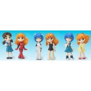 Set 6 Figures EVA GIRLS Evangelion Gals MINI SD VERSION Original Gashapon BANDAI JAPAN