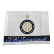 INTER F.C. Internazionale WHITE FLAG Medium Size 63x47cm OFFICIAL Original