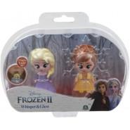 Box 2 FIGURES 6cm Whisper And Glow Characters ANNA AND ELSA Disney Giochi Preziosi Frozen 2
