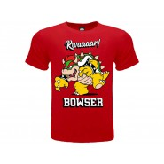 BOWSER T-Shirt Jersey Red From Super Mario Enemy Evil Original OFFICIAL