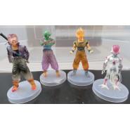 SET 4 Figures DRAGONBALL 12cm GOKU FREEZER TRUNKS GOKU Super Sayian Transparent Base