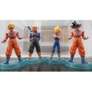 SET 4 Figures DRAGONBALL 12cm MAJINVEGETA TRUNKS GOKU Super Sayian Light Blue Base