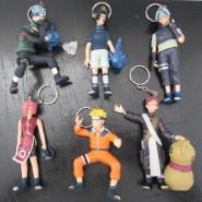 SET 6 Figures 8cm NARUTO Anime Manga