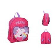 Backpack PEPPA PIG 31x25x9cm Make Believe RAINBOW ORIGINAL School Kindergarden Sport