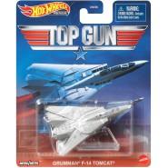 Die Cast Model Plane GRUMMAN F-14 TOMCAT From Top Gun 9cm Hot Wheels