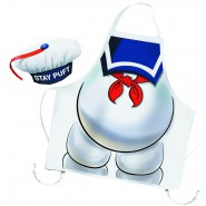 STAY PUFT Gift Set APRON and HAT for KITCHEN Adult Size Marshmallow Man Ghostbuster Original
