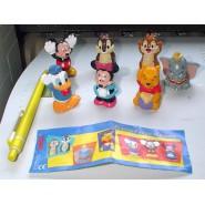 SET 7 Mini Figures FINGER PUPPETS Chip Dale Dumbo Winnie Donald Mickey Minnie DISNEY TOMY