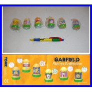 RARE Set 6 Stamps Garfield Cat Odie Arlene Stamp Collection Tomy