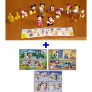 RARE Bundle Set 12 Mini Figures and 12 Mini Puzzles Disney Original Donald Duck Mickey Mouse