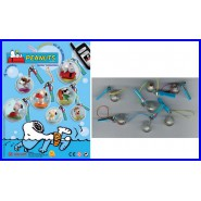Set 7 Figures Bubble SNOOPY 2cm Snoopy in a Bubble Discapa Dangler