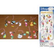 RARE Set 10 Characters Disney METALLIC MASCOTS Mickey Mouse Minnie Ariel Marie Winnie Tomy