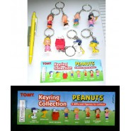 RARE Set 8 Characters Keyring Collection PEANUTS Snoopy Woodstock