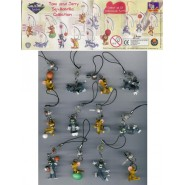 RARE Set 12 MINI FIGURES with Danglers TOM and JERRY Japan Cool Things