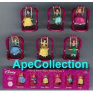 RARO Set 6 Characters Disney PRINCESS SWINGING FIGURES Cinderella Jasmine Snow White Belle Aurora