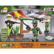 Box 3 VIETNAM VAR Soldiers With Weapons COBI 2038 Building Blocks