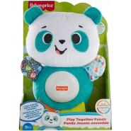 Plush Soft Toy 15cm BABY PANDA Play With Me Sounds Speaks ITALIAN Original Fisher Price GVN32