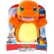 CHARMANDER Plush Soft Toy FLAME ACTION 30cm Lights And Sounds Pokemon Fire - Friend of Pikachu - Jazwarez