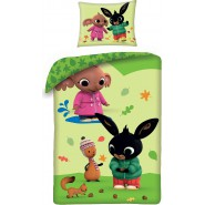 BED Set BING FLOP AND SULA with SQUIRREL Cotton Baby DUVET COVER 100x135cm Original CARBOTEX