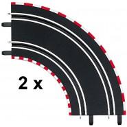 BOX 2 pieces CURVE 90. 90° For Electric SLOT CAR TRACKS Carrera GO and EVOLUTION Original 61603