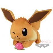 POKEMON EEVEE Plush Soft Toy Big 30cm Sitting With Star On Head Banpresto Bandai