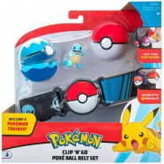 POKEMON Clip 'n' Go Official BELT With Figure SQUIRTLE Turtle and 2 PokeBall ORIGINAL Official