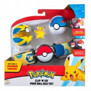 POKEMON Clip 'n' Go Official BELT SET With Figure PIKACHU and 2 PokeBall ORIGINAL Official