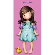 SANTORO GORJUSS Girl PINK DRESS with DUCK Beach Towel 75x150cm Bath ORIGINAL Official