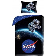 Bed Set NASA MAN IN SPACE With Bag DUVET COVER 140x200 Cotton