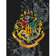 BLANKET PLAID Harry Potter HOGWARTS CREST 4 Houses 170x130cm ORIGINAL Official WARNER BROS