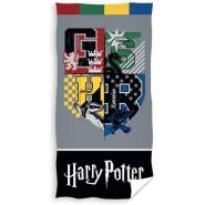 Harry Potter HOGWARTS CREST 4 Houses Beach Towel 70x140cm ORIGINAL Official WARNER BROS