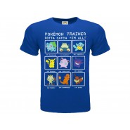 POKEMON T-Shirt Jersey BLU With TRAINER Original OFFICIAL
