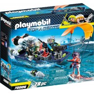 Playset Playmobil Top Agents 70006 Assault Boat Team S.H.A.R.K.