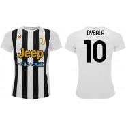 PAULO DYBALA Number 10 JUVENTUS 20201/2022 T-Shirt Jersey HOME Official Replica La Joya