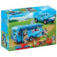 Playset Playmobil CARAVAN ROULOTTE and PICKUP Family Fun 9502