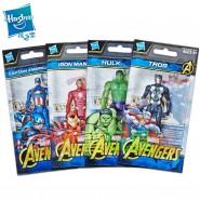 Marvel AVENGERS Set 4 Figures 10cm VALUE EDITION Hulk Thor Iron Man Capitan America ORIGINAL E4353 Hasbro