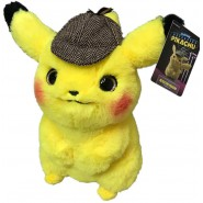 PIKACHU Detective Pikachu PLUSH 32cm Pokemon WITH DETECTIVE HAT Original