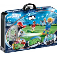 PLAYMOBIL Sports & Action Playset SOCCER GAME Field Take Away WITH 2 PLAYERS and 2 GOALKEEPERS 70244