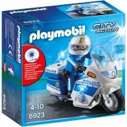 Playset POLICE MOTORCYCLE MOTO Original PLAYMOBIL 6923 City Action