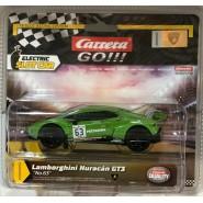 Model LAMBORGHINI HURACAN GT3 GREEN Number 63 Scale 1:43 10cm for Track CARRERA GO