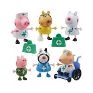 PEPPA PIG Playset DOCTORS and Nurses with 6 FIGURES Original Giochi Preziosi