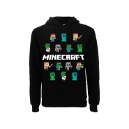 MINECRAFT Sweatshirt black With 14 Characters Original OFFICIAL Videogame