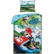BED SET Duvet Cover SUPER MARIO KART Race Original Nintendo 140x200 COTTON