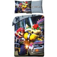 BED SET Duvet Cover SUPER MARIO KART Mario VS BOWSER Original Nintendo 140x200 COTTON