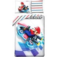 BED SET Duvet Cover SUPER MARIO KART GO-KART Original Nintendo 140x200 COTTON
