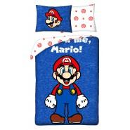 BED SET Duvet Cover SUPER MARIO KART  IT'S-A ME MARIO Original Nintendo 140x200 COTTON